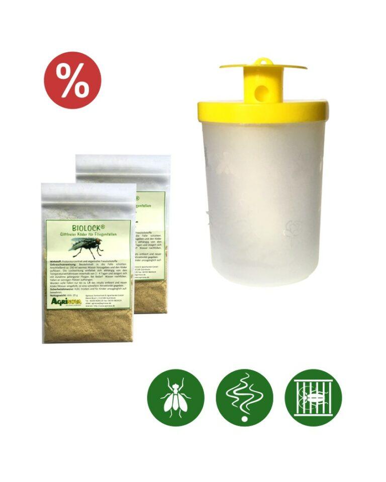 Biolock® Fliegenfalle mini 1 Falle + 2 Köder à 20g/Set