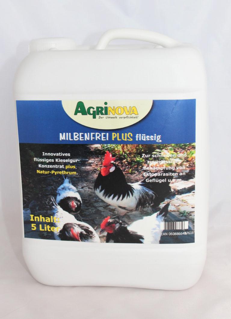 Milbenfrei Plus Flüssig Innovatives flüssiges Kieselgur-Konzentrat Natur-Pyrethrum - 5 Liter