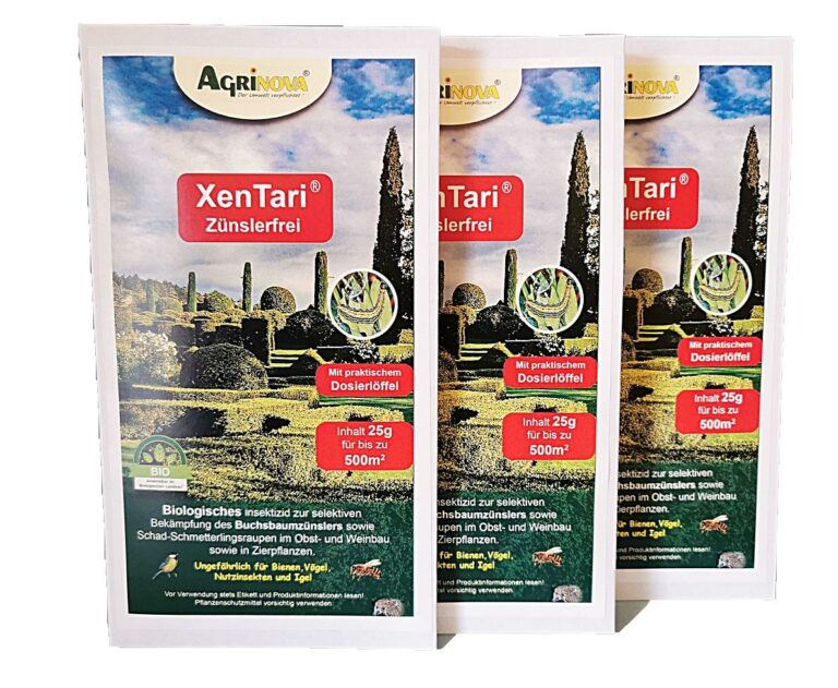 3 x Agrinova XenTari® Zünslerfrei 25 g (75 Gramm Sparpack)
