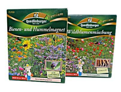 Blumensamen Bienen- Hummelmagnet und Wildblumenmischung für je 100m²
