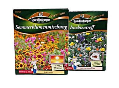 Blumensamen Insektentreff und Sommermischung ohne Gräser für je 100m²