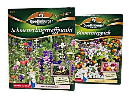 Blumensamen Schmetterlingstreffpunkt und Blumenteppich für je 100m²