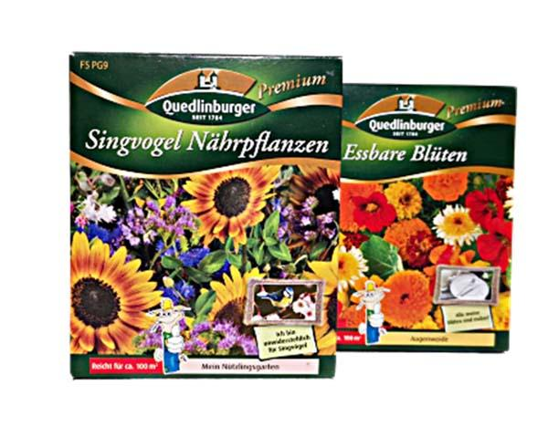 Blumensamen Singvogel Nährpflanzen und Essbare Blüten für je 100m²