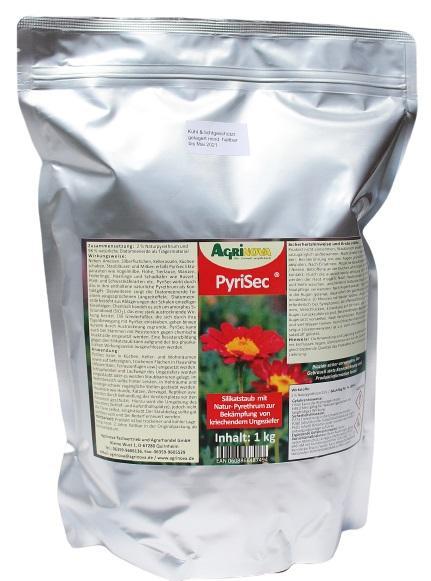 PyriSec® Bio-Insektizid auf Basis von Kieselgur und Naturpyrethrum - 1 kg
